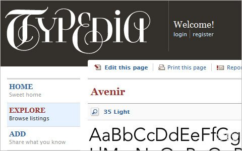 Useful Typography Resources - Typedia: A Shared Encyclopedia of Typefaces