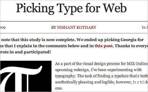 Useful Typography Resources - Picking Type for Web