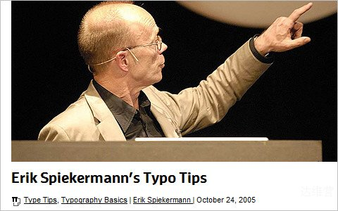 Useful Typography Resources - Erik Spiekermann's Typo Tips