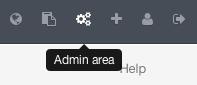 GitLab 主栏的 ``Admin area'' 图标。