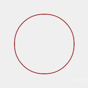 CSS3空心圆