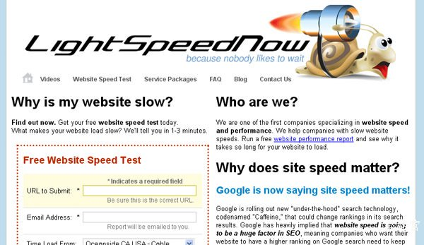 lightspeednow 18 Website Speed and Performance Checking Tools